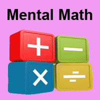 Click here to go to mental math Drills